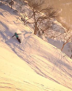 Nath powder turn sunset japan ok net.jpg