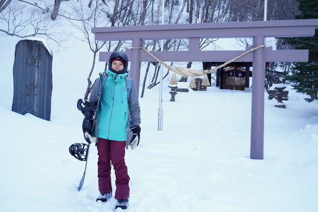 snowboard in Kurodake (Japan)