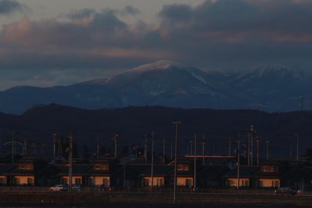 sunset in Honshu before taking the ferry to reach Hokkaido