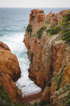 la Corniche d'Or sur la Cote d'Azur