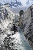 Walking on the Rakaposhi glacier