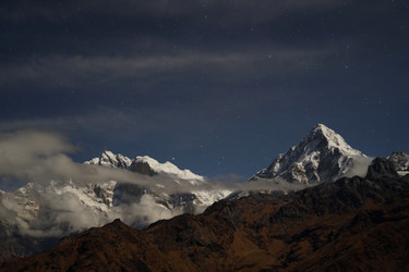 The Annapurnas by night