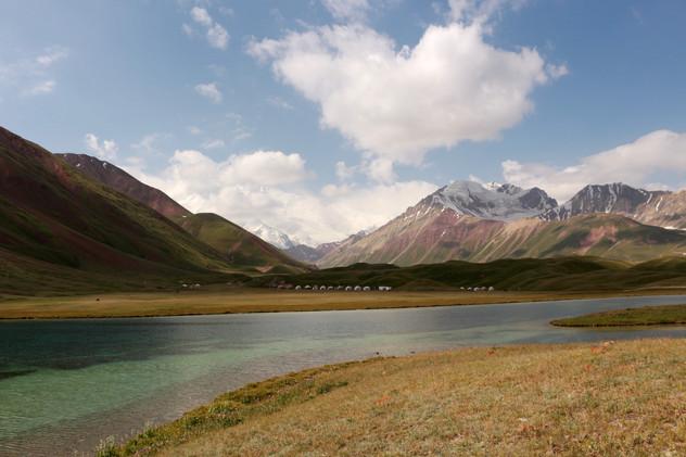 au pied du Pic Lénine au Kirghizistan
