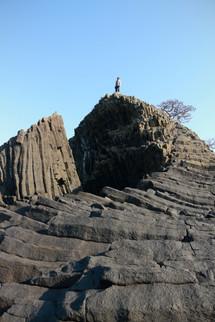 structures volcaniques sur le côte de la préfecture de Fukui