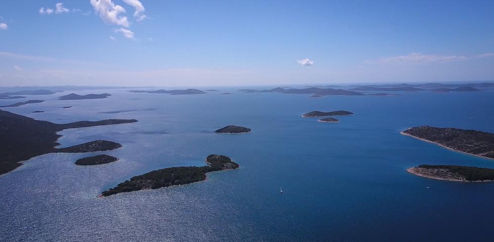 chapelets d'îles en Croatie