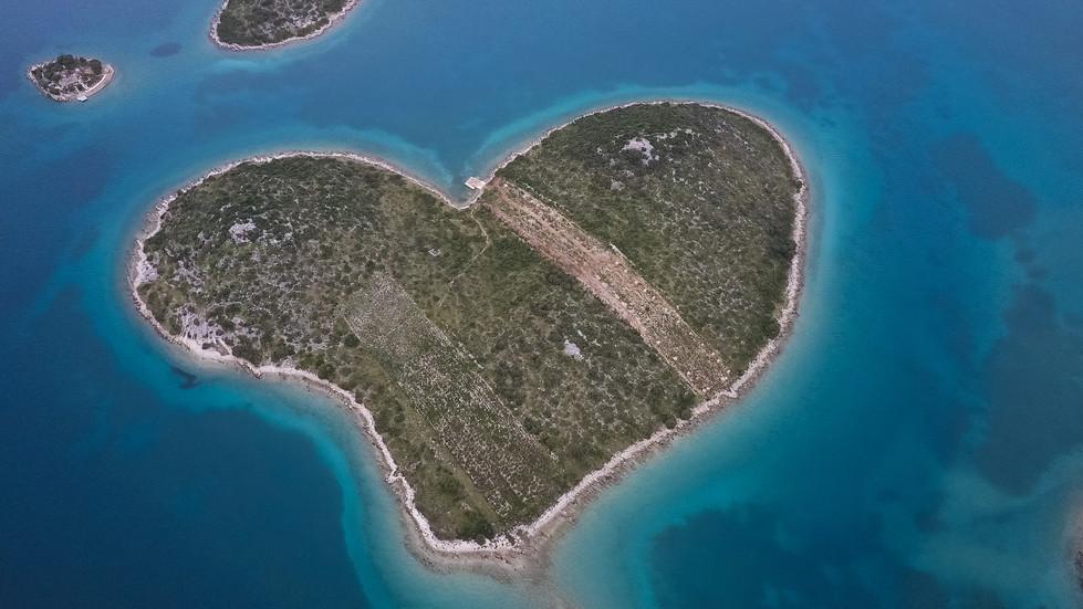 île croate vue du ciel