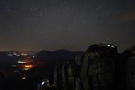Nightsky above the Meteora Monasteries