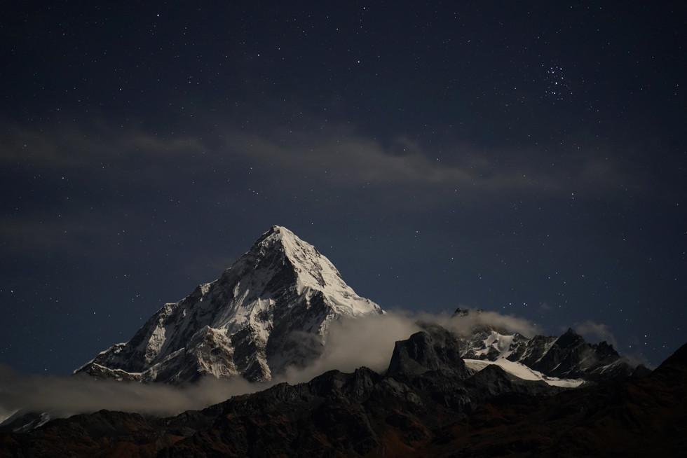 The Annapurnas by night