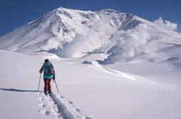 Ski mountaineering in Asahidake