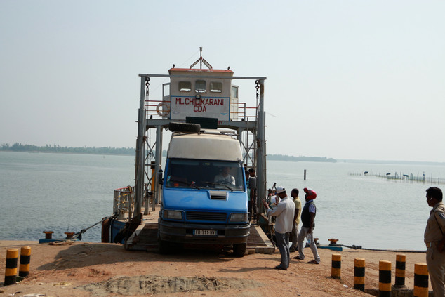ferry boat on the eastern cost of India