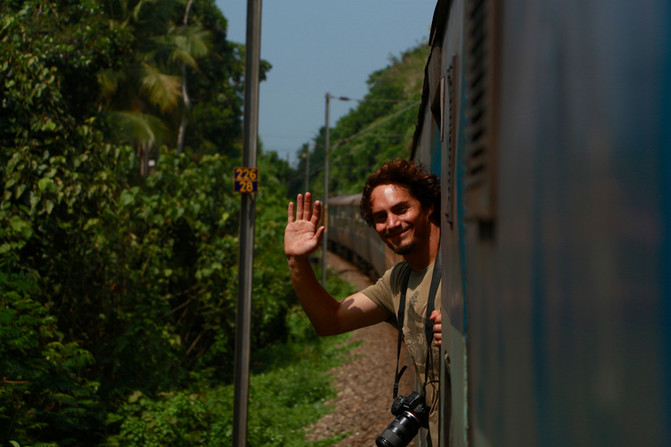 travelling by train (Kerala)