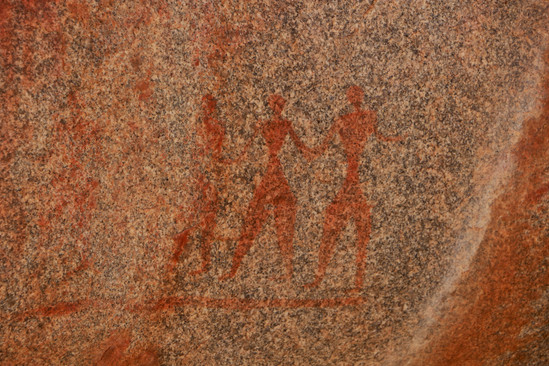 rock painting around Hampi (5000 year old 'Stone Age colony)