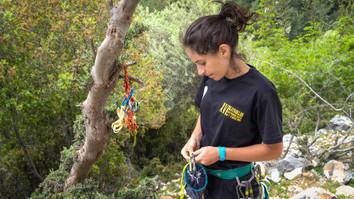 Climbing session