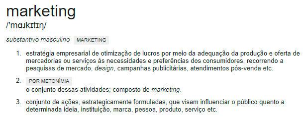 definição de marketing by google