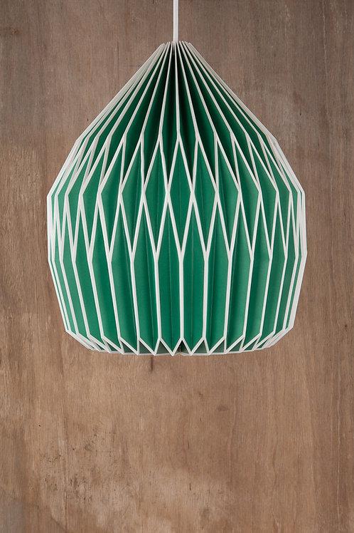 Neon Green Origami Lampshade