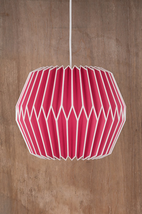 Pink Origami Lampshade