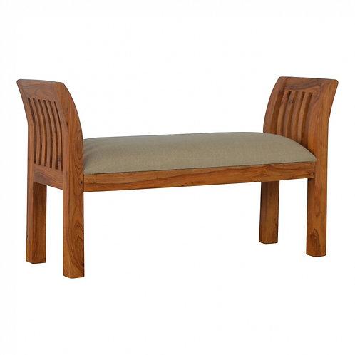 Sheesham Upholstered Bedroom Bench