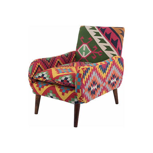 COTTON DHURRIE NOMAD ARMCHAIR
