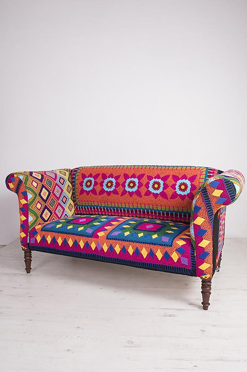 Mexican Embroidered Sofa