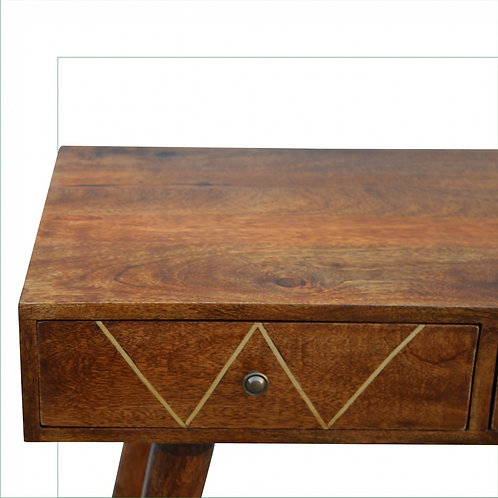 Writing Desk with Gold Wiring
