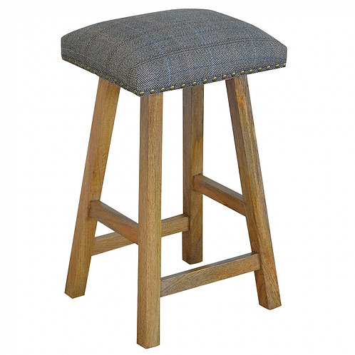 Stool Upholstered in Multi Tweed