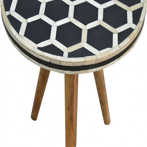Tripod Stool with Bone Inlay