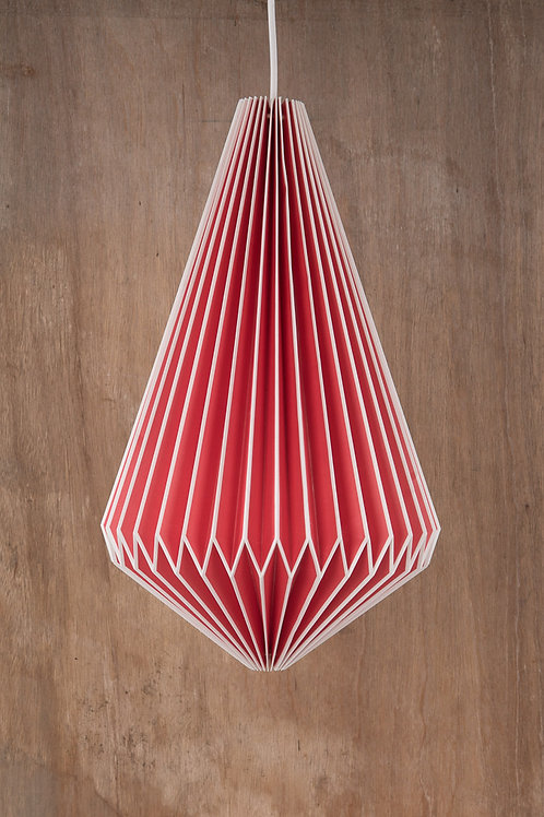 Red Origami Lampshade