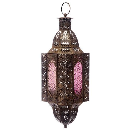 Glass Moroccan Style Fretwork Lantern