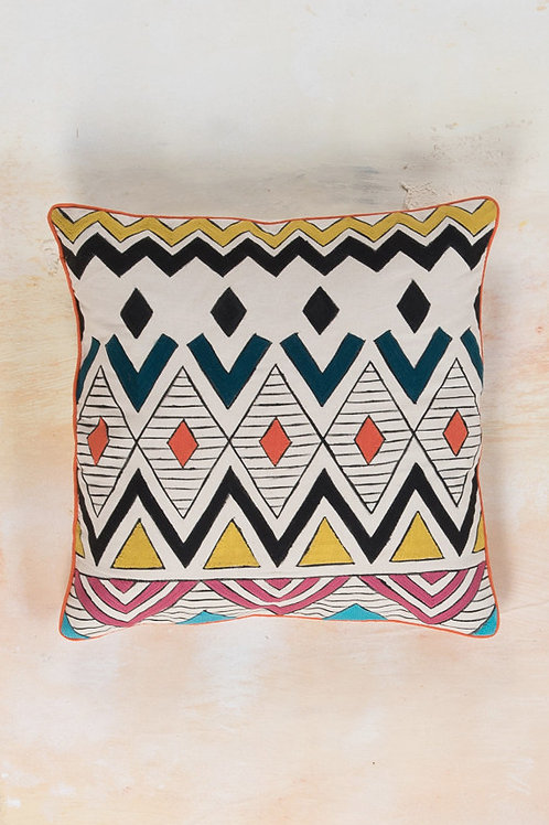 Hand Painted Cotton Cushion Cover