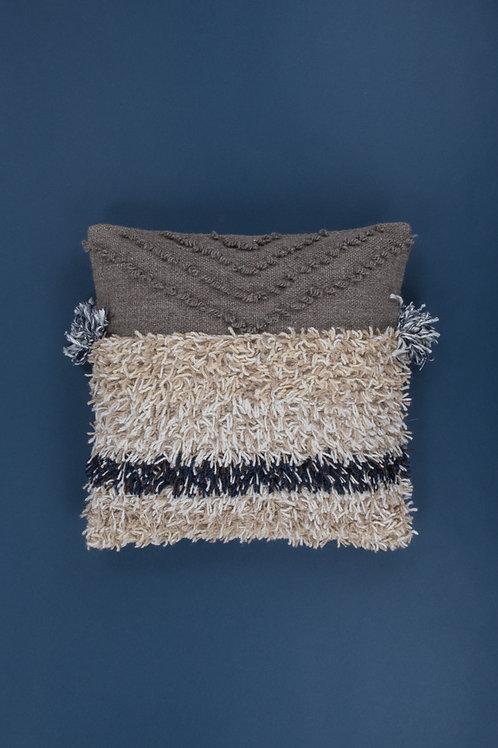 Woven Cotton Wool Shaggy Cushion Cover