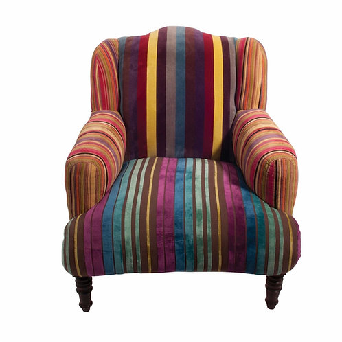 Striped Velvet Armchair