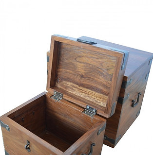 Nest of Solid Wood Boxes