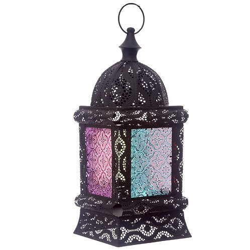 Glass Moroccan Standing Lantern
