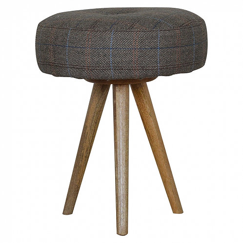 Tripod Accent Stool in Tweed (Set of 2)