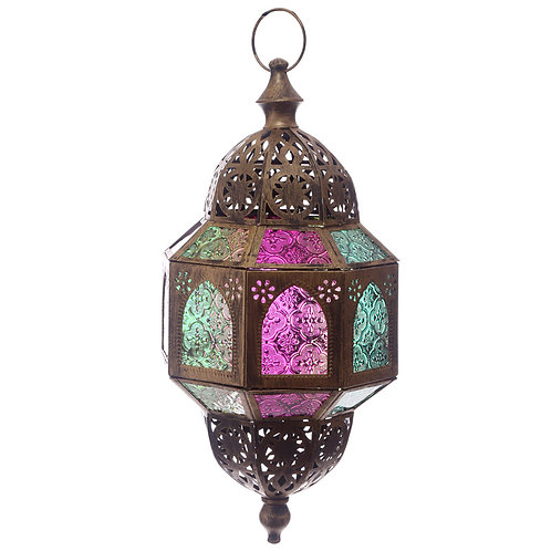 Intricate Glass Moroccan Lantern