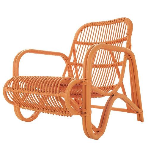 Orange Rattan Chair