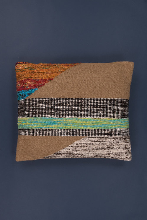 Wool, Jute & Recycled Silk Woven Cushion Cover