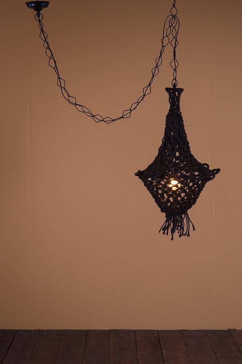 Macrame Lampshade in Black