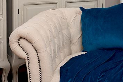 Natural Linen Chesterfield Sofa