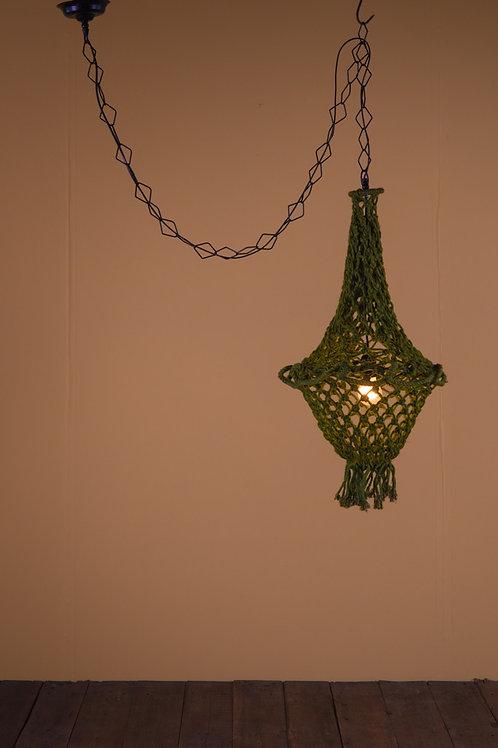 Macrame Lampshade in Green