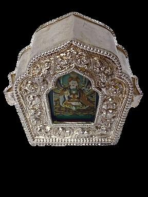 Guru Rinpoche Three Kayas  Protection and Blessing Amulet (Ghau)