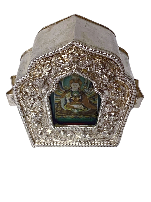 Guru Rinpoche Three Kayas  Protection and Blessing Amulet (Ghau)
