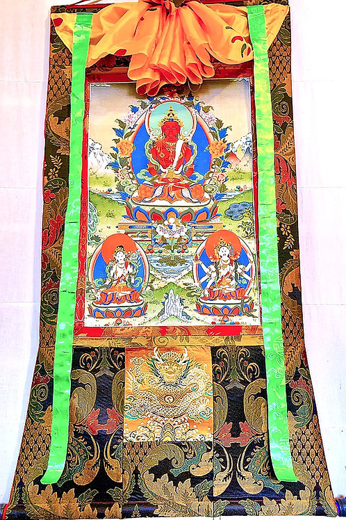 Amitayus with Namgyalma and White Tara