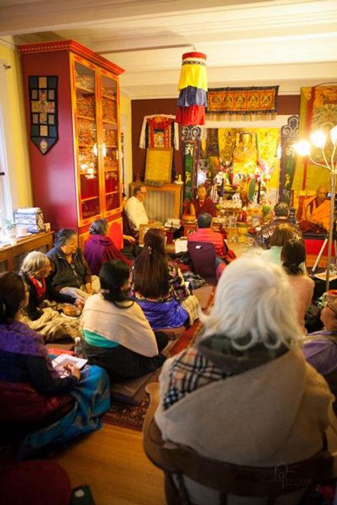 Sangha practice in the Shrine Room