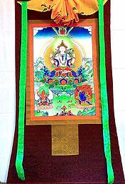 Chenrezig - Three Bodhisattva Thangka