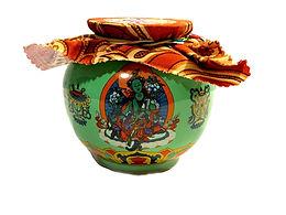 Green Tara Treasure Vase