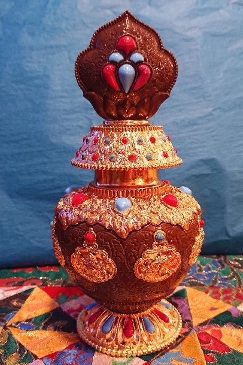 Bronze and Gold Wish Fulfilling Treasure Vase