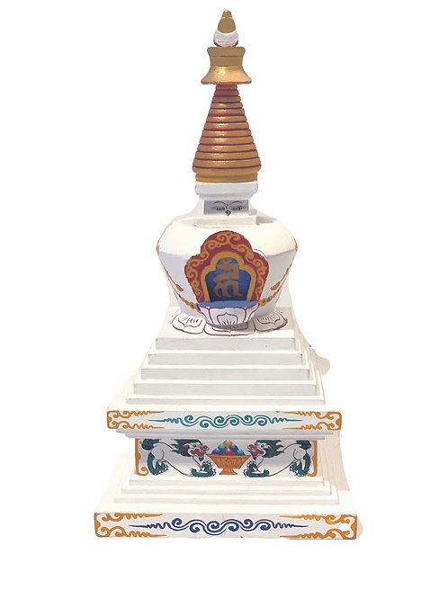 Enlightenment Stupa (Hand-Painted Wood)