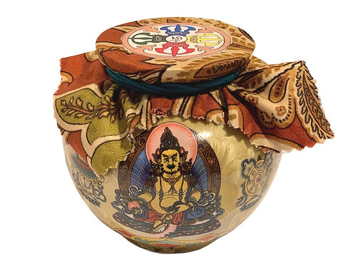 Golden Dzambhala Treasure Vase