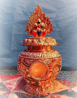 Wish Fulfilling Treasure Vase with Medallion